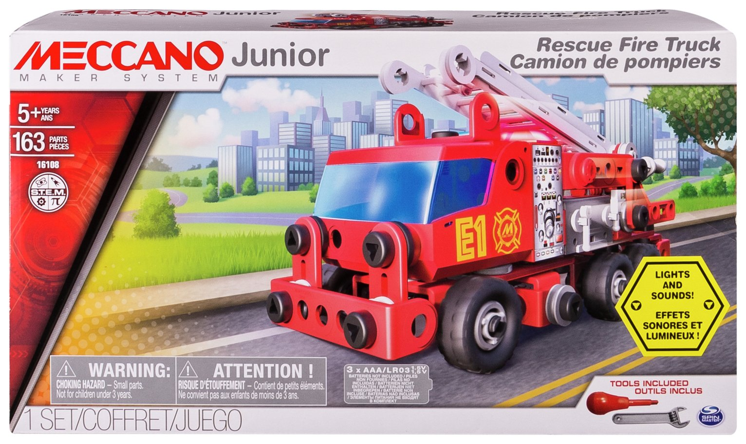 Meccano Junior Rescue Fire Engine Building Set