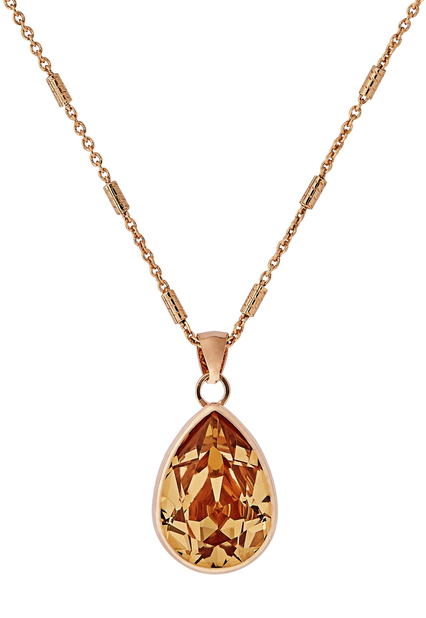 Image of Davvero Rose Gold Plated Silver Swarovski Crystal Pendant