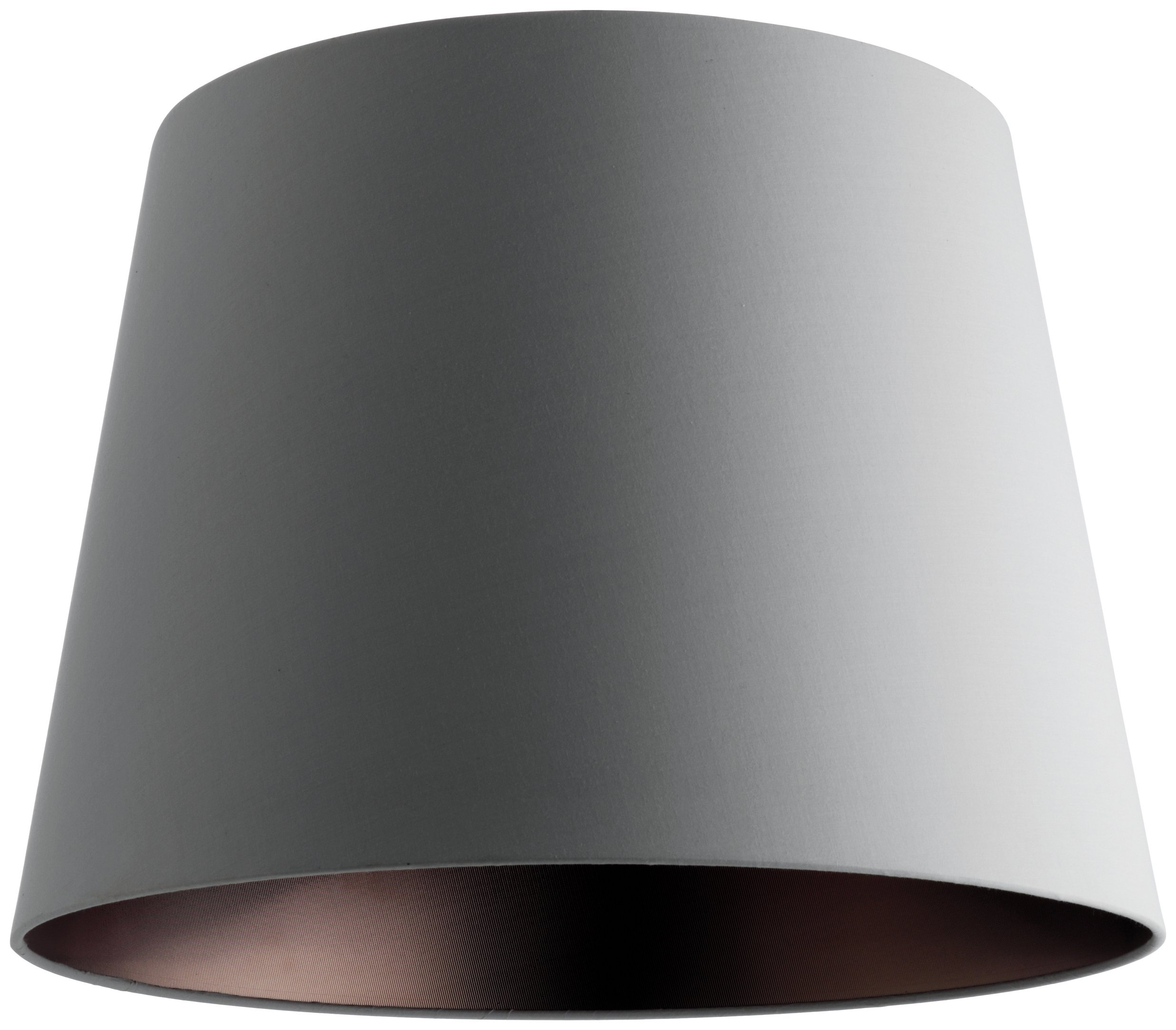 Habitat Grande Large Tapered Fabric Lampshade - Grey