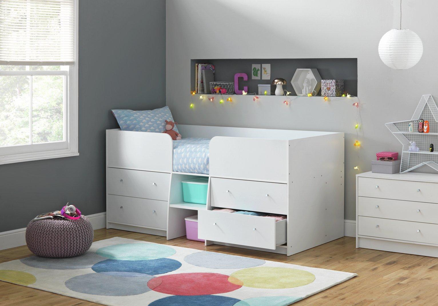 Argos Home Malibu Shorty Mid Sleeper - White