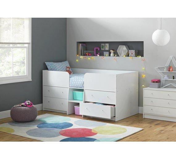 Buy Argos Home Malibu Shorty Mid Sleeper - White | Kids beds | Argos