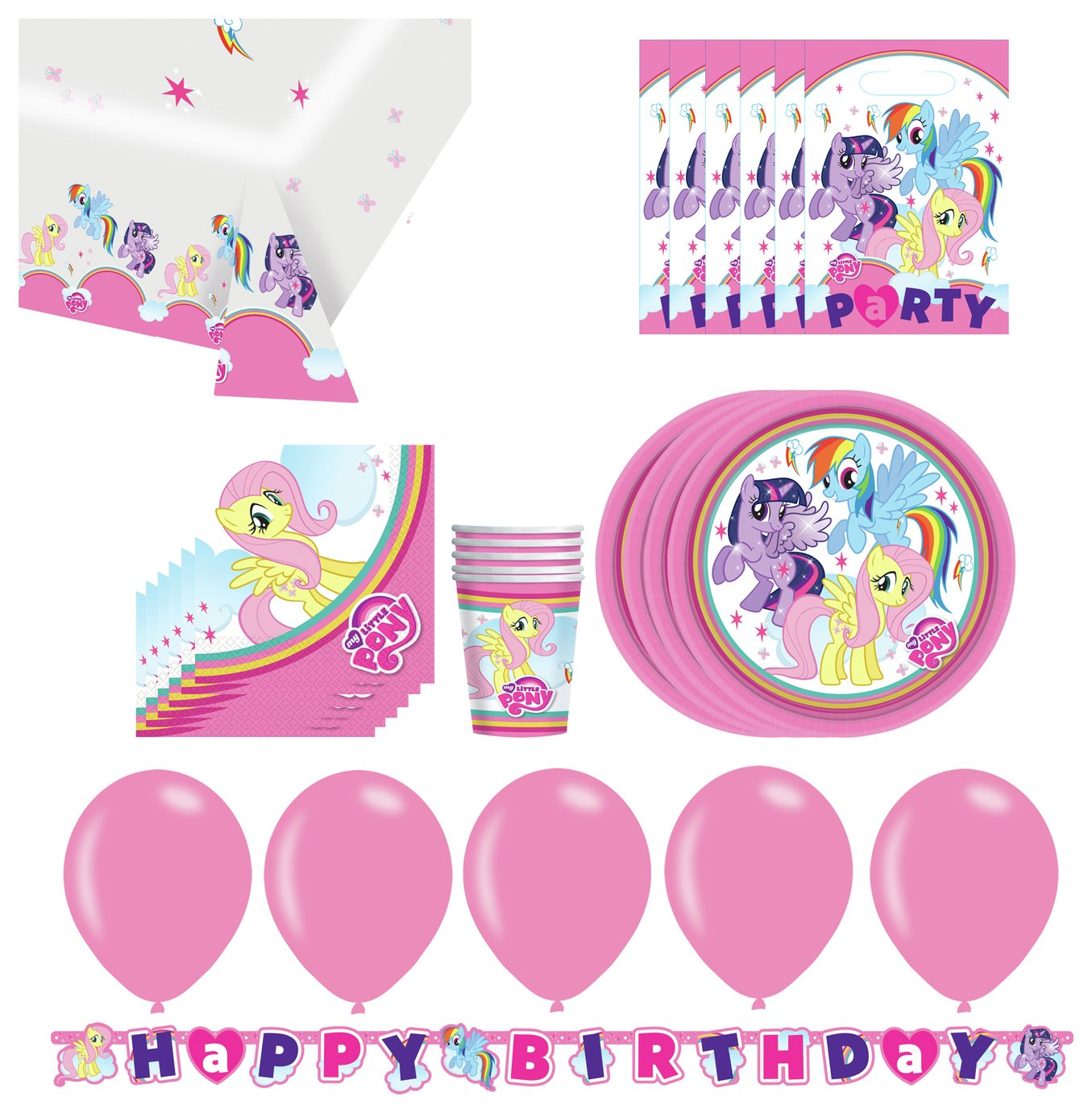 Image of Hasbro My Little Pony Party Pack for 16 Guests