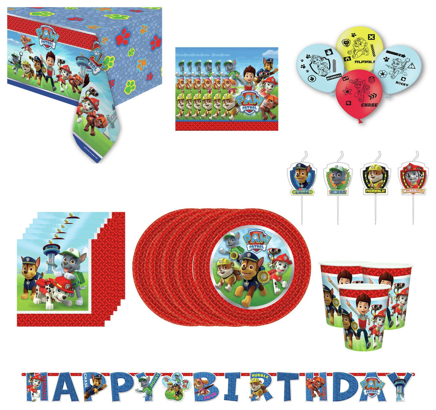 Paw Patrol Party Pack for 16 Guests