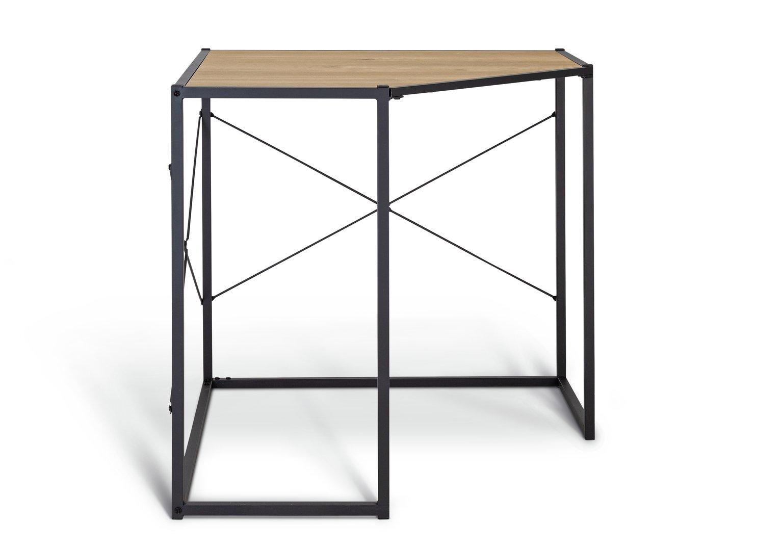 Habitat Loft Living Corner Office Desk - Light Oak Effect