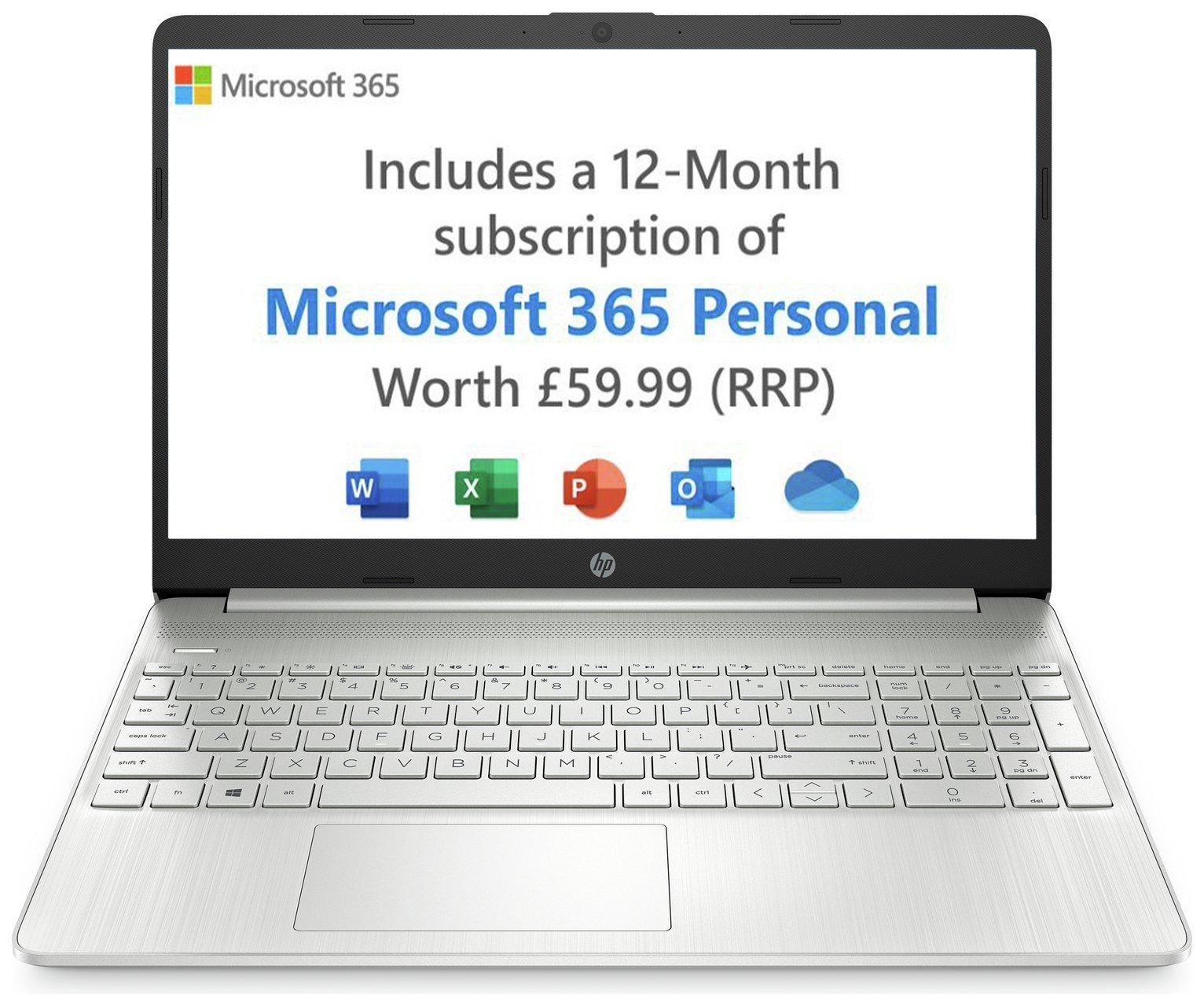 HP 15 Slim 15.6in Pentium Gold 4GB 128GB Laptop