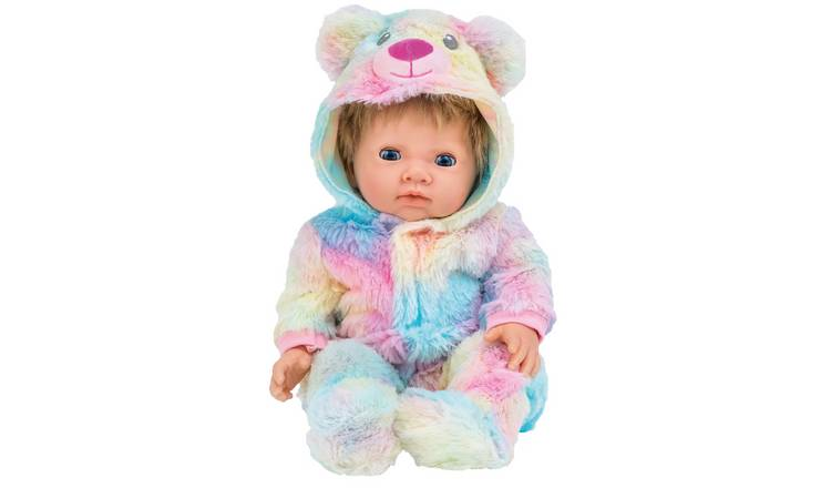 Chad Valley Tiny Treasures Rainbow Teddy All-in-One Outfit