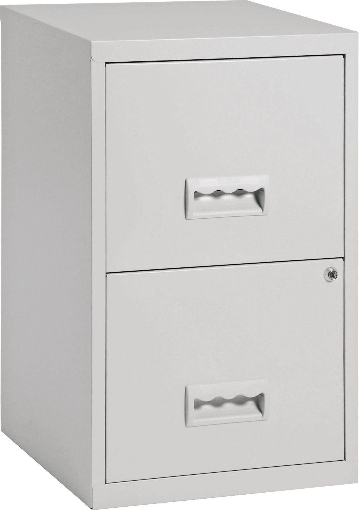 pierre henry 2 drawer filing cabinet grey