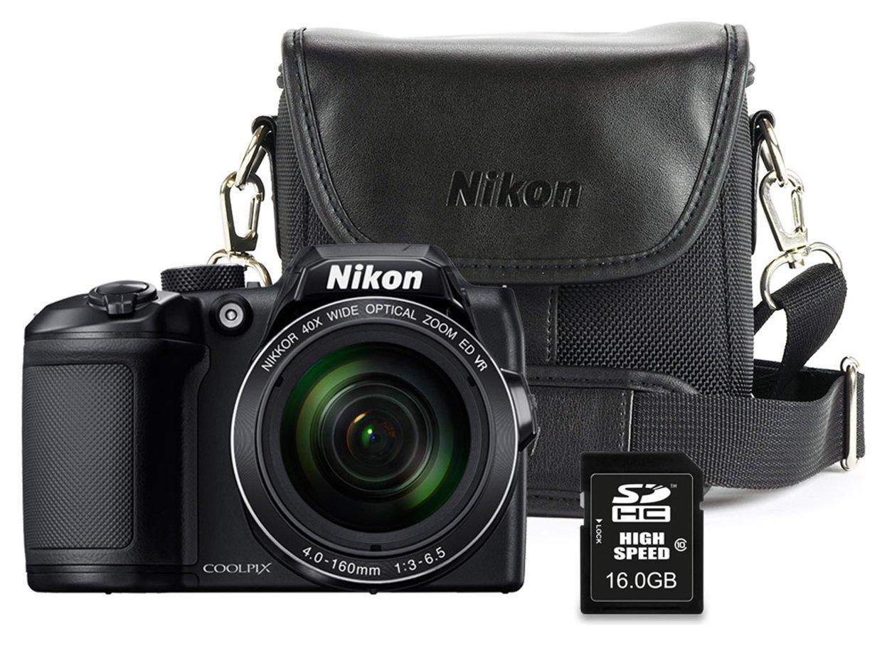 Nikon B500 16MP 40x Zoom Bridge Camera Bundle - Black
