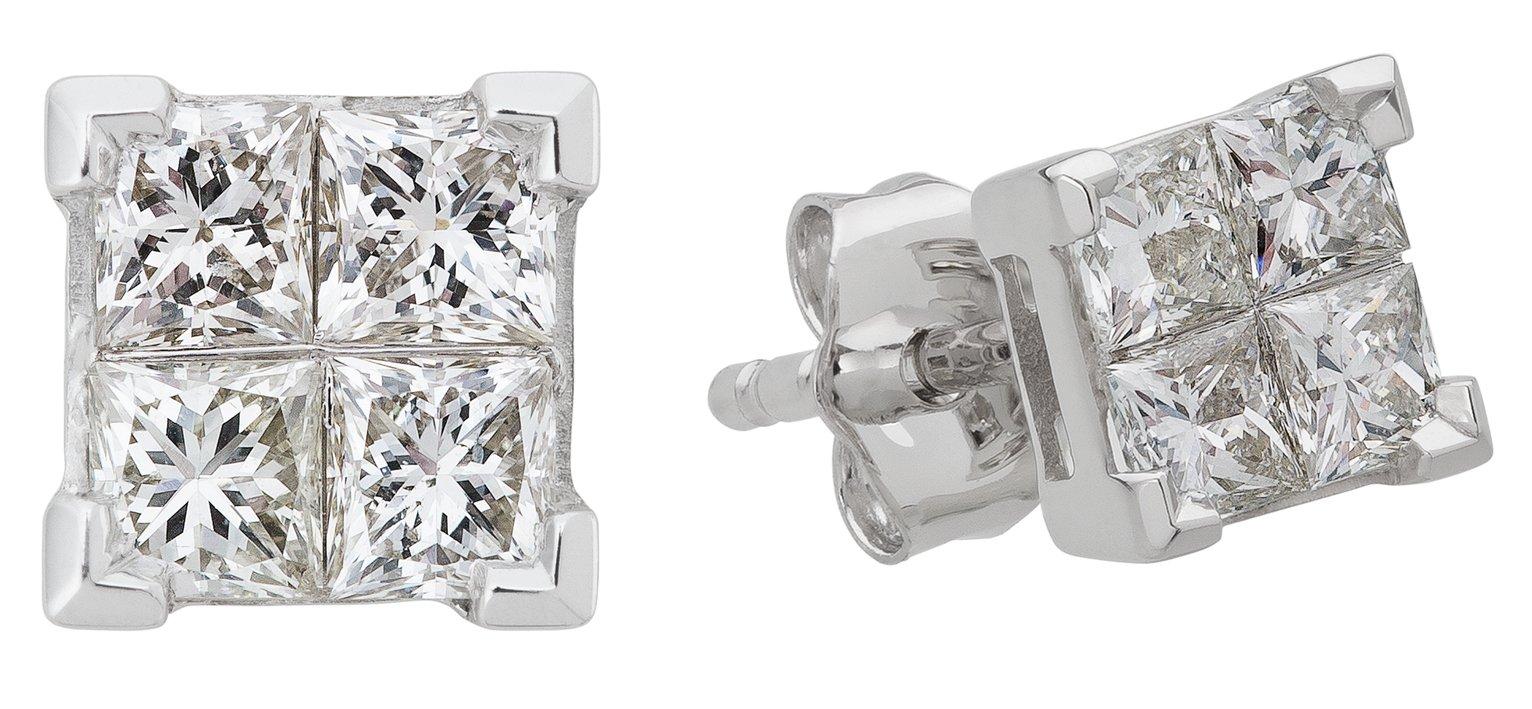 Revere 9ct White Gold 0.50ct tw Diamond Earrings