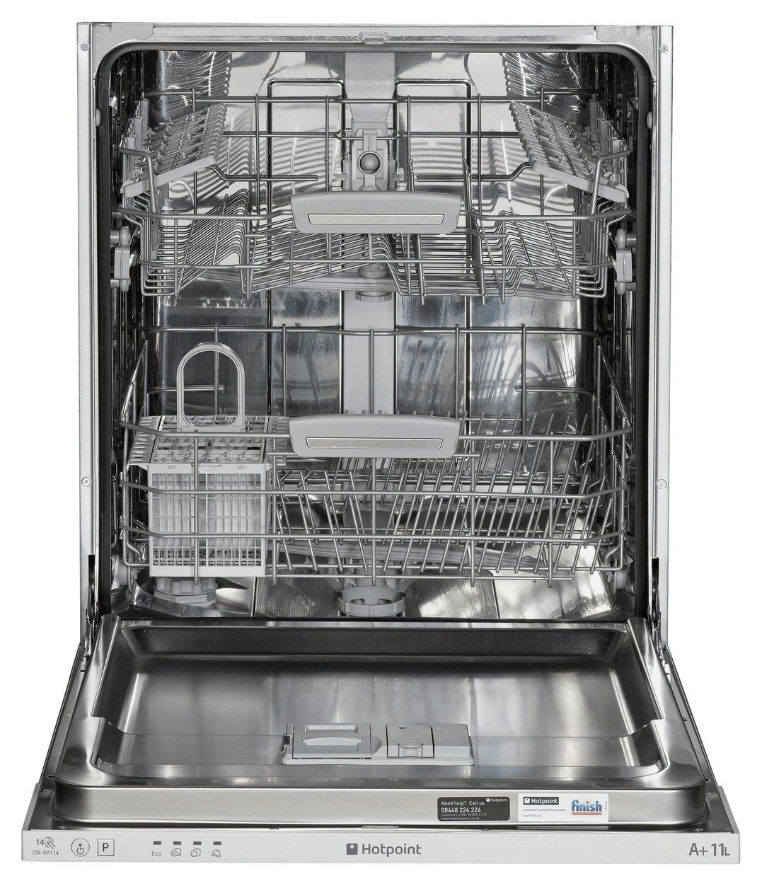 Hotpoint LTB4B019 Full Size Integrated Dishwasher - White