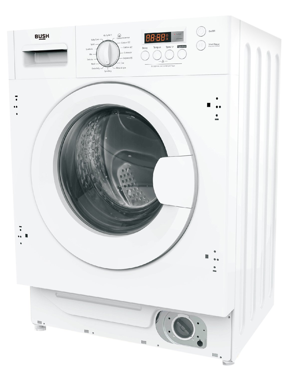 Image of Bush WMNSINT612W 6KG 1200 Spin Washing Machine - White