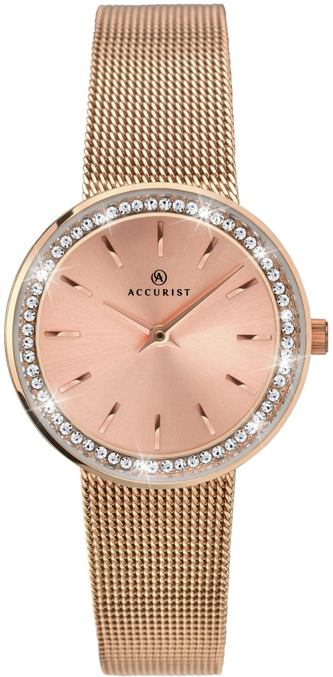 Image of Accurist Ladies' Rose Gold Plated Milanese Watch