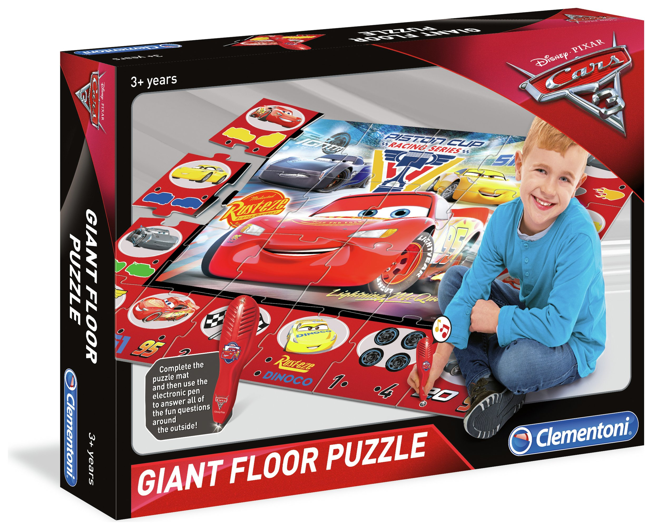 Image of Clementoni Disney Cars 3 Giant Floor Puzzle