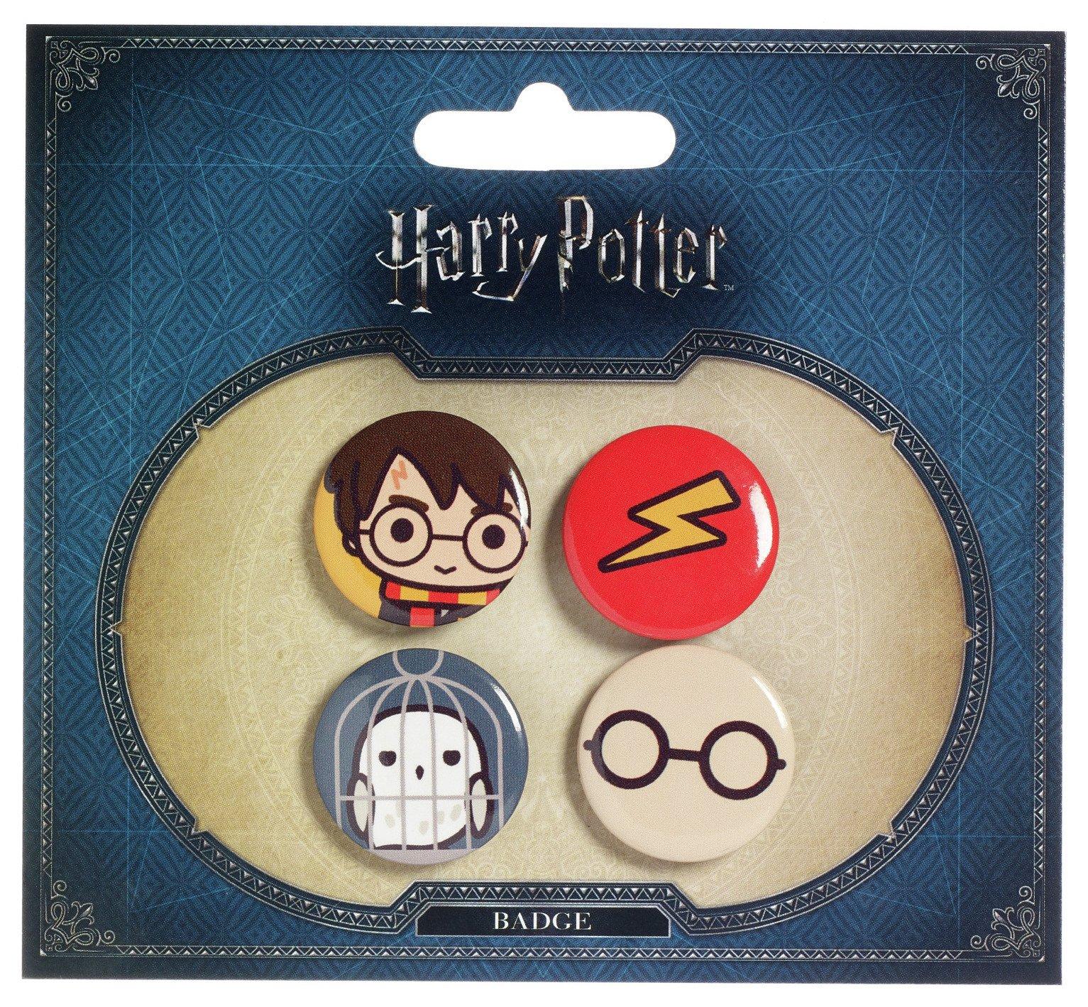 Image of Harry Potter Harry & Hedwig Button Badge Set