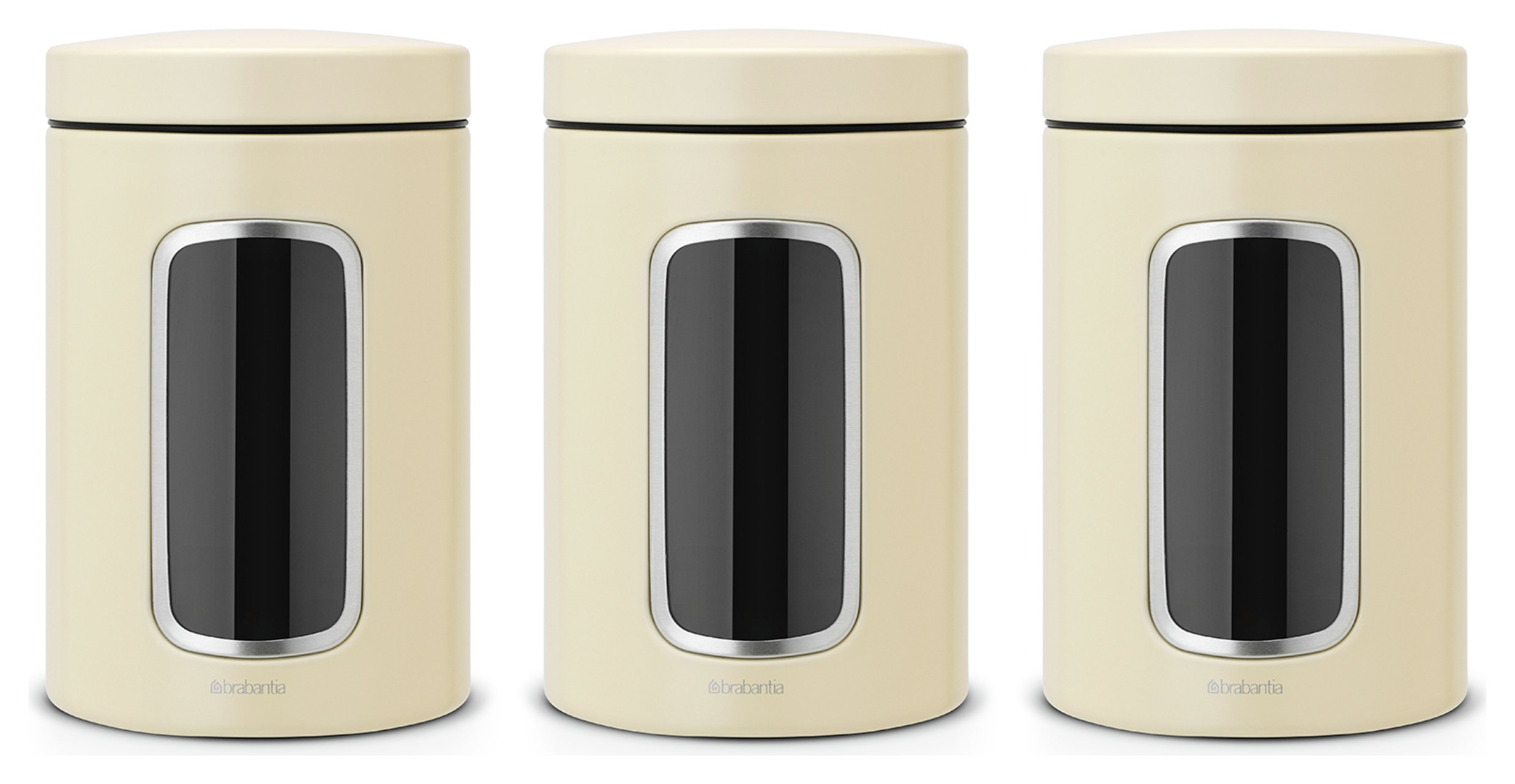 Image of Brabantia Window Canister Set - Almond