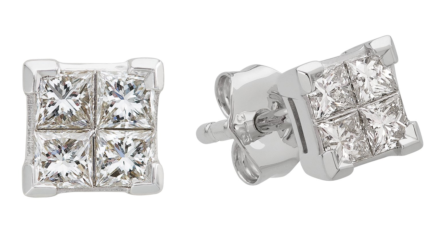 Revere 9ct White Gold 0.33ct tw Diamond Earrings