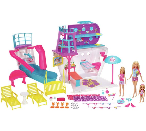 Buy Barbie Cruise Ship Playset With Dolls And Accessories At - Cruise ship toys for sale