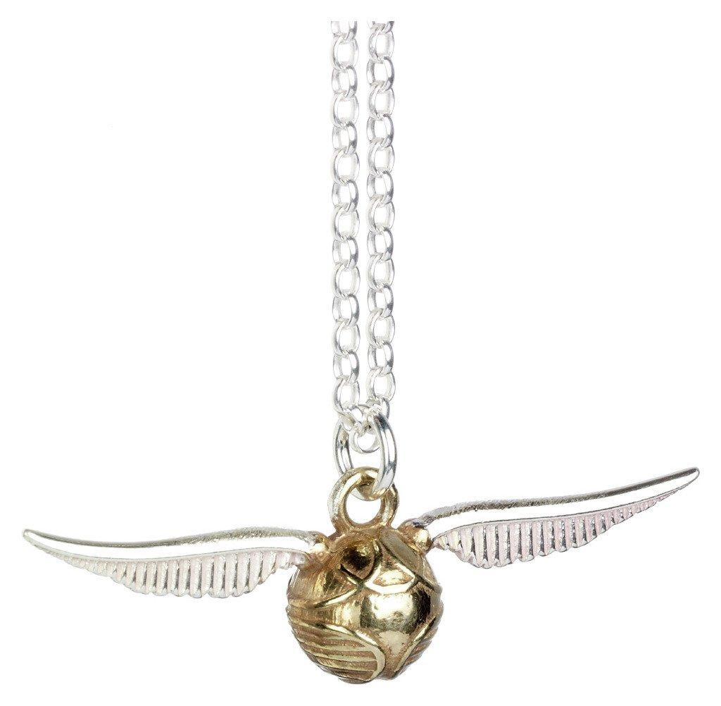 Harry Potter Sterling Silver Golden Snitch Pendant Necklace