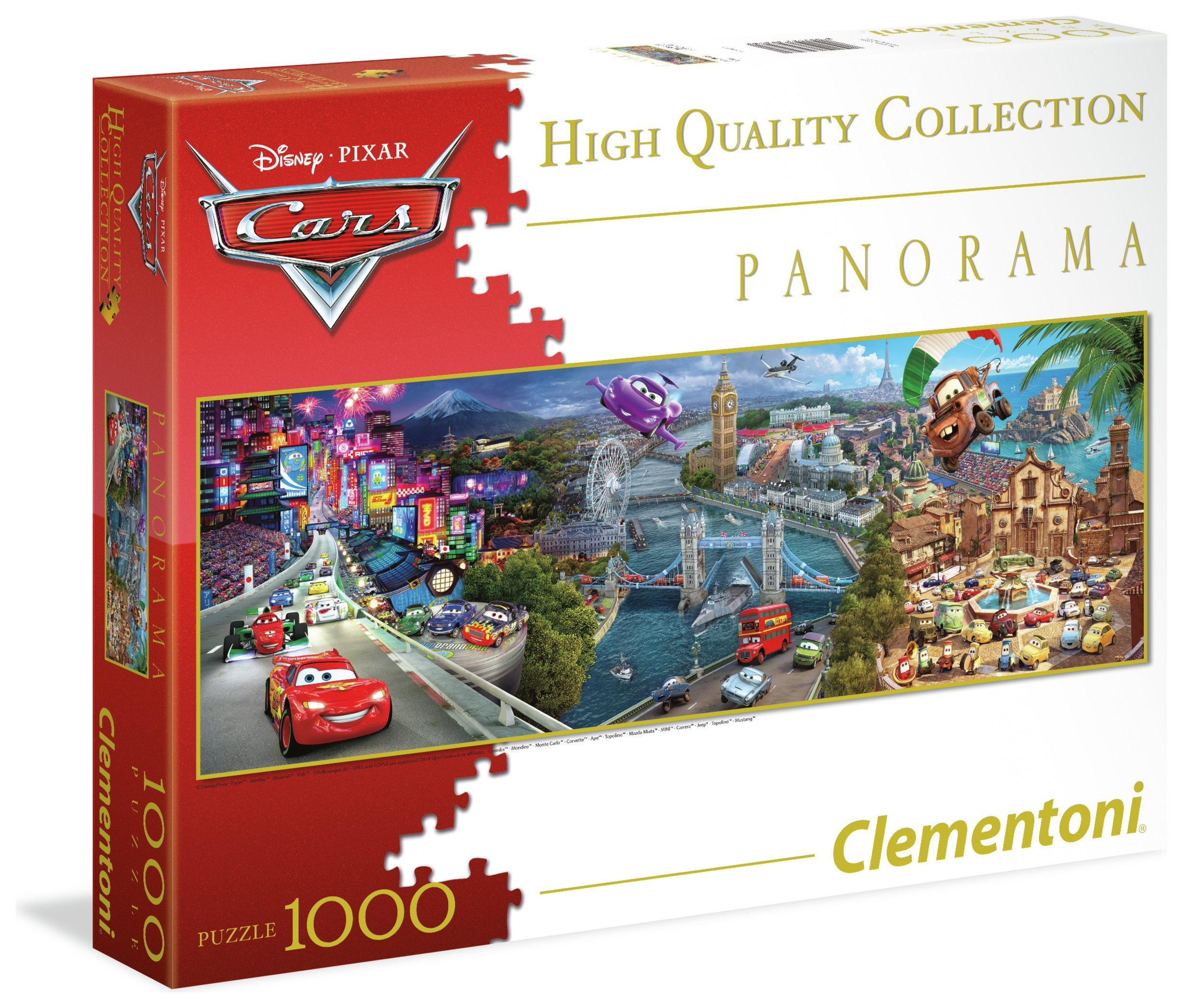 Image of Clementoni Disney Cars Panorama 1000 Puzzle