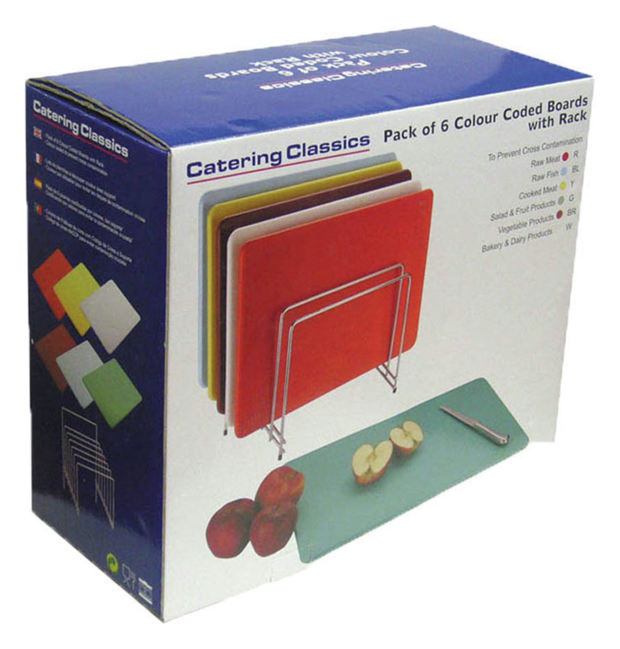 4 Coloured Food Chopping Boards Set Gift Shop