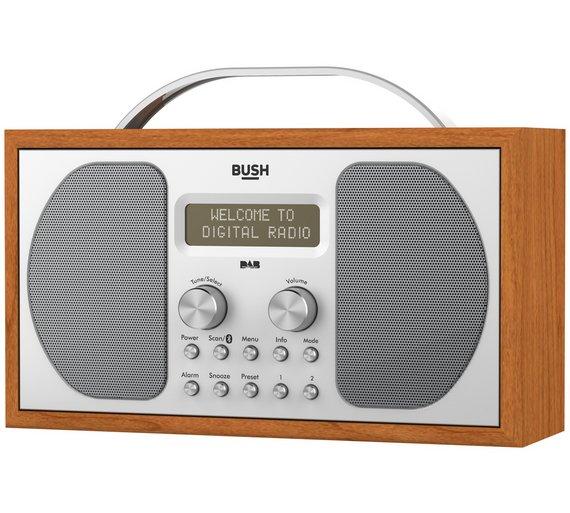buy bush dab bluetooth wooden radio radios argos