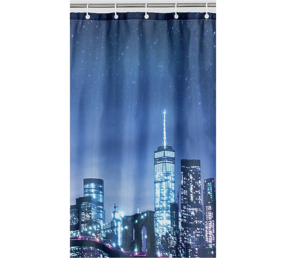 Argos Home New York Skyline Shower Curtain