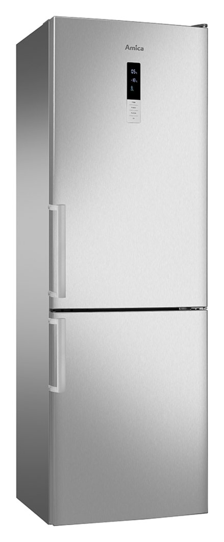 Amica FK3213DFX Frost Free Fridge Freezer - Stainless Steel