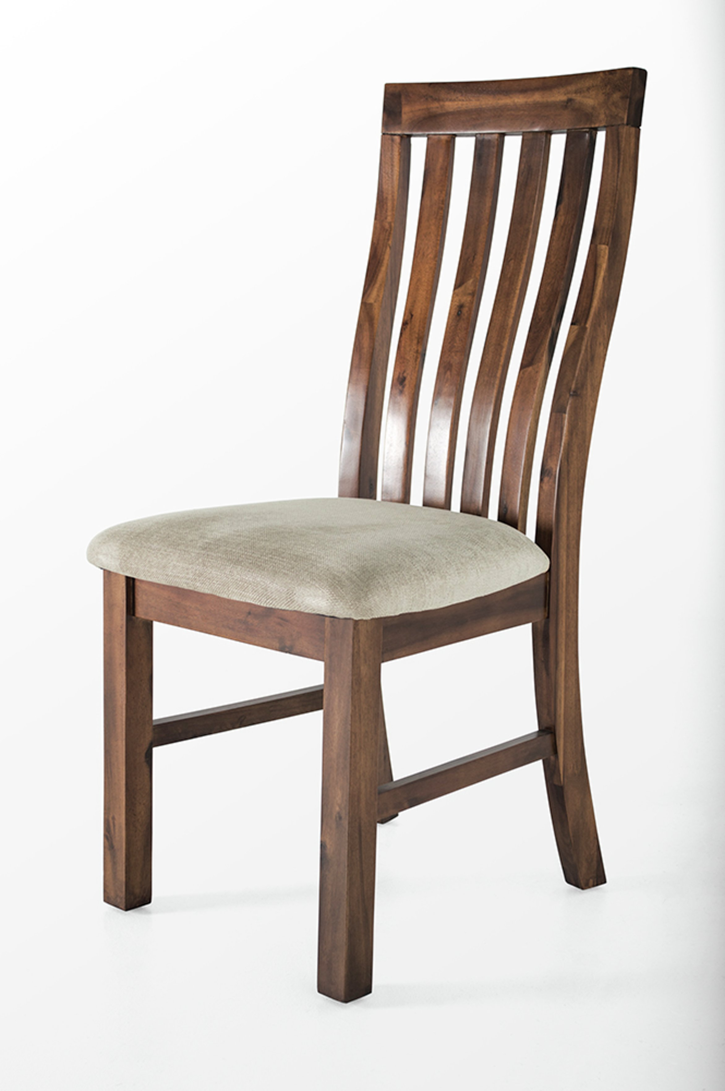 Image of Furnoko Emerson Slatted Back Wood Dining Chair - Natural