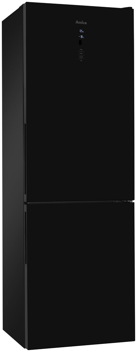 Amica FK3216GDF Frost Free Tall Fridge Freezer - Black