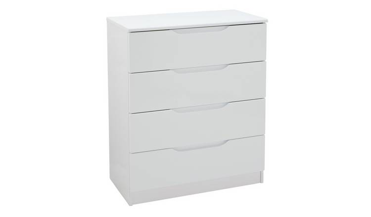 Legato 4 Drawer Chest - White Gloss