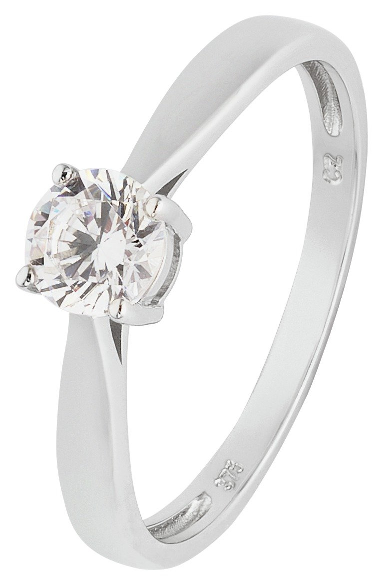 Revere 9ct White Gold 0.50ct Look Cubic Zirconia Ring