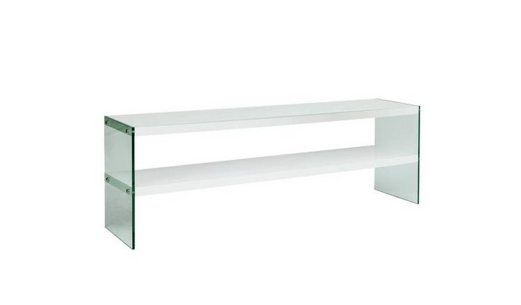 online store 69029 c5fc4 Buy Argos Home Kaspa Large TV Unit - White Gloss & Glass | Entertainment  units and cabinets | Argos