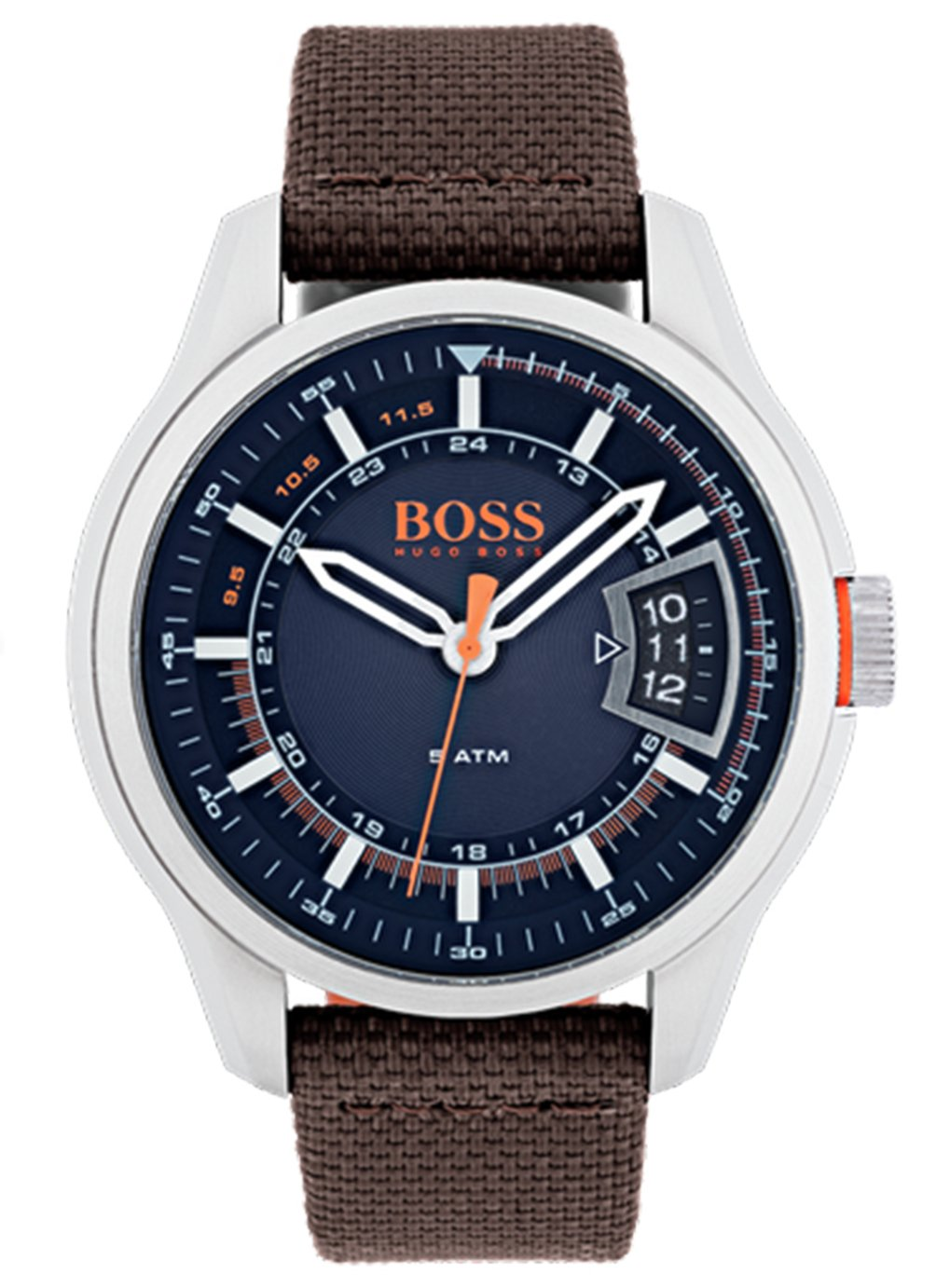 Boss Orange Hong Kong Men's Brown Leather Strap Watch