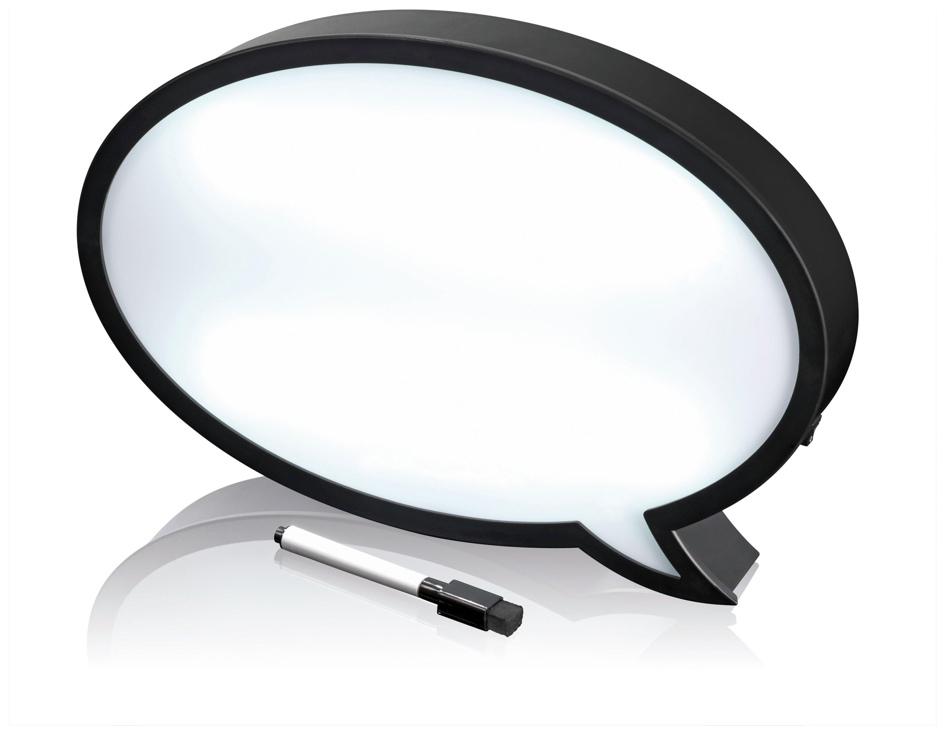 EASYmaxx LED Speech Bubble Light Box