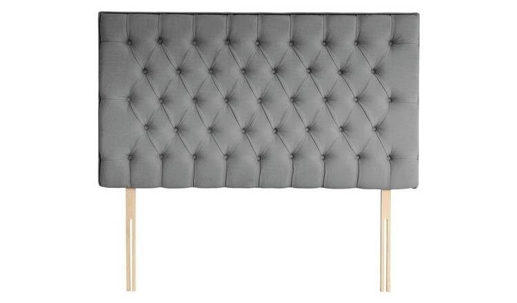 Silentnight Sassaria Slate Grey Headboard - Superking