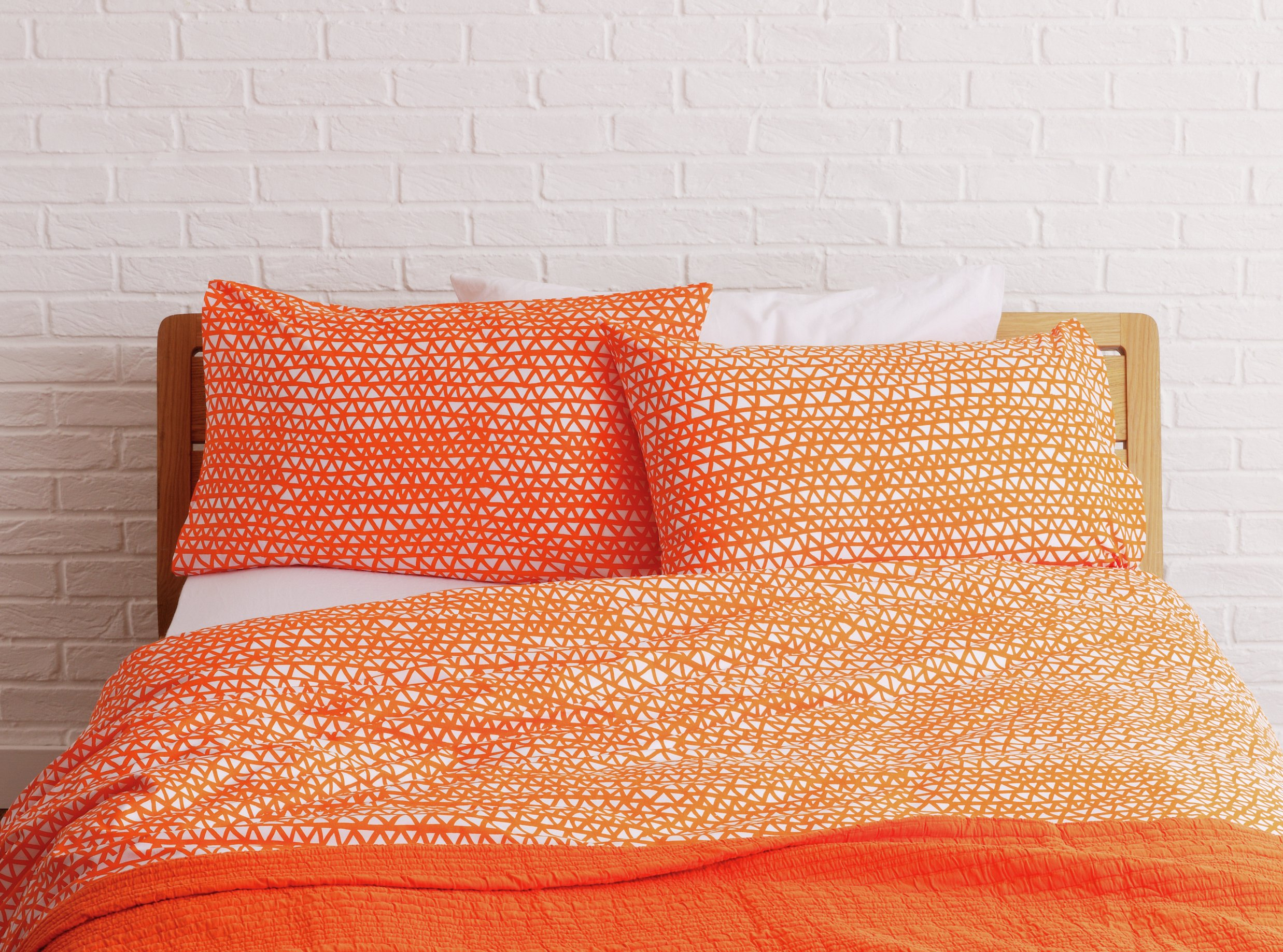 Habitat Noah Orange Duvet Cover Set - Kingsize