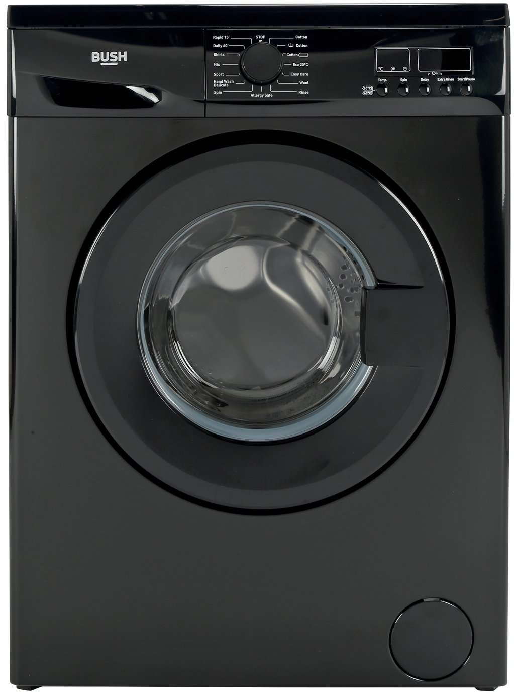 Image of Bush WMDF814B 8KG 1400 Spin Washing Machine - Black + Installation
