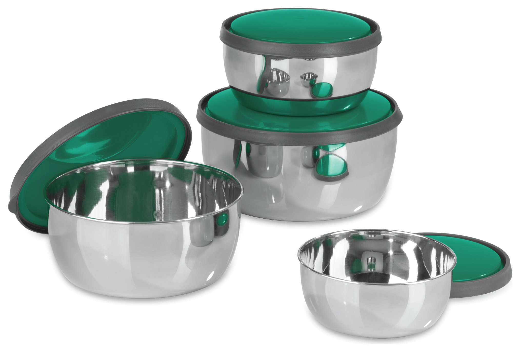 Image of GOURMETmaxx 4 Piece Stainless Steel Bowl Set