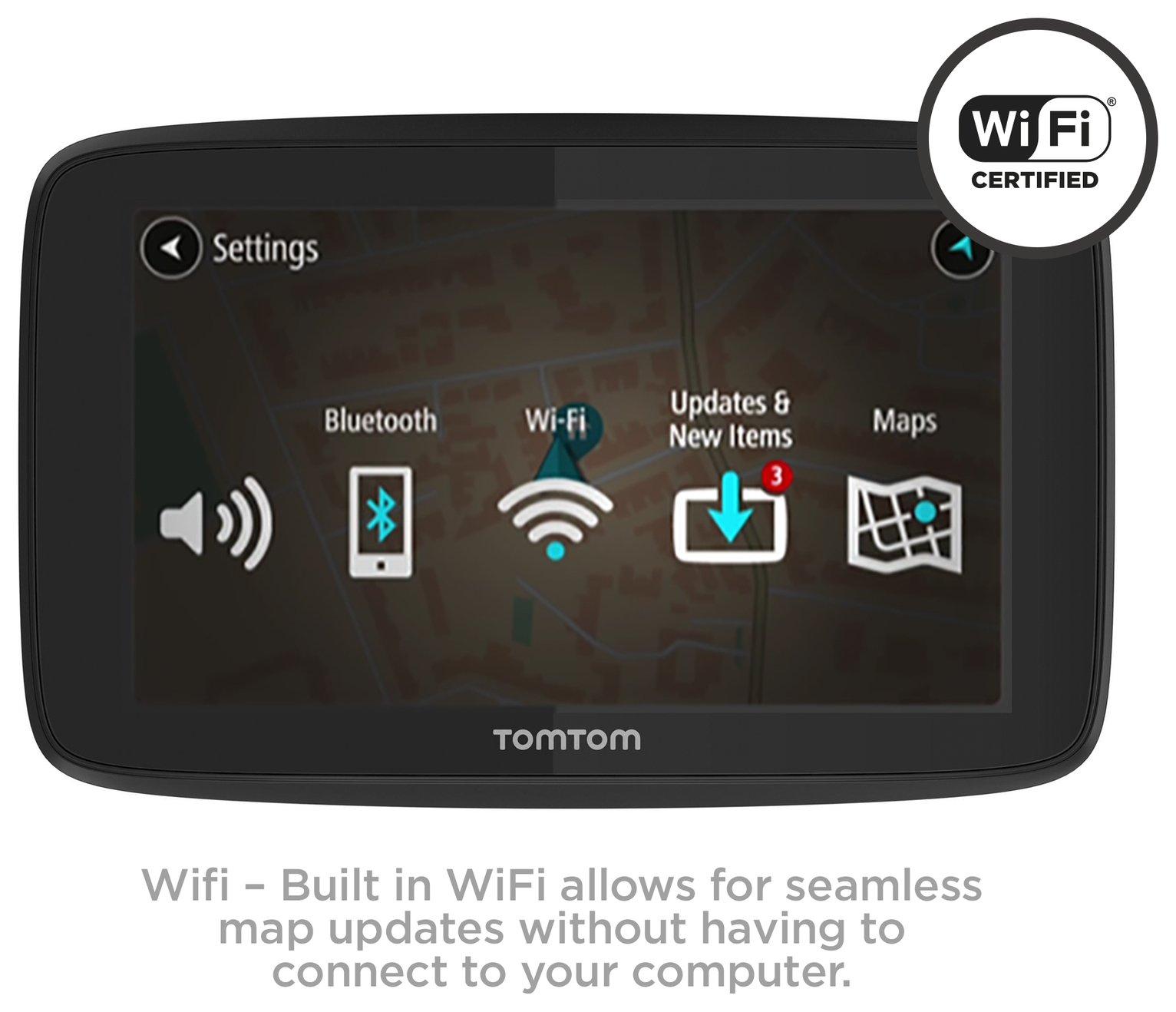 TomTom GO 5200 5 Inch Traffic Sat Nav, Europe Maps, Case