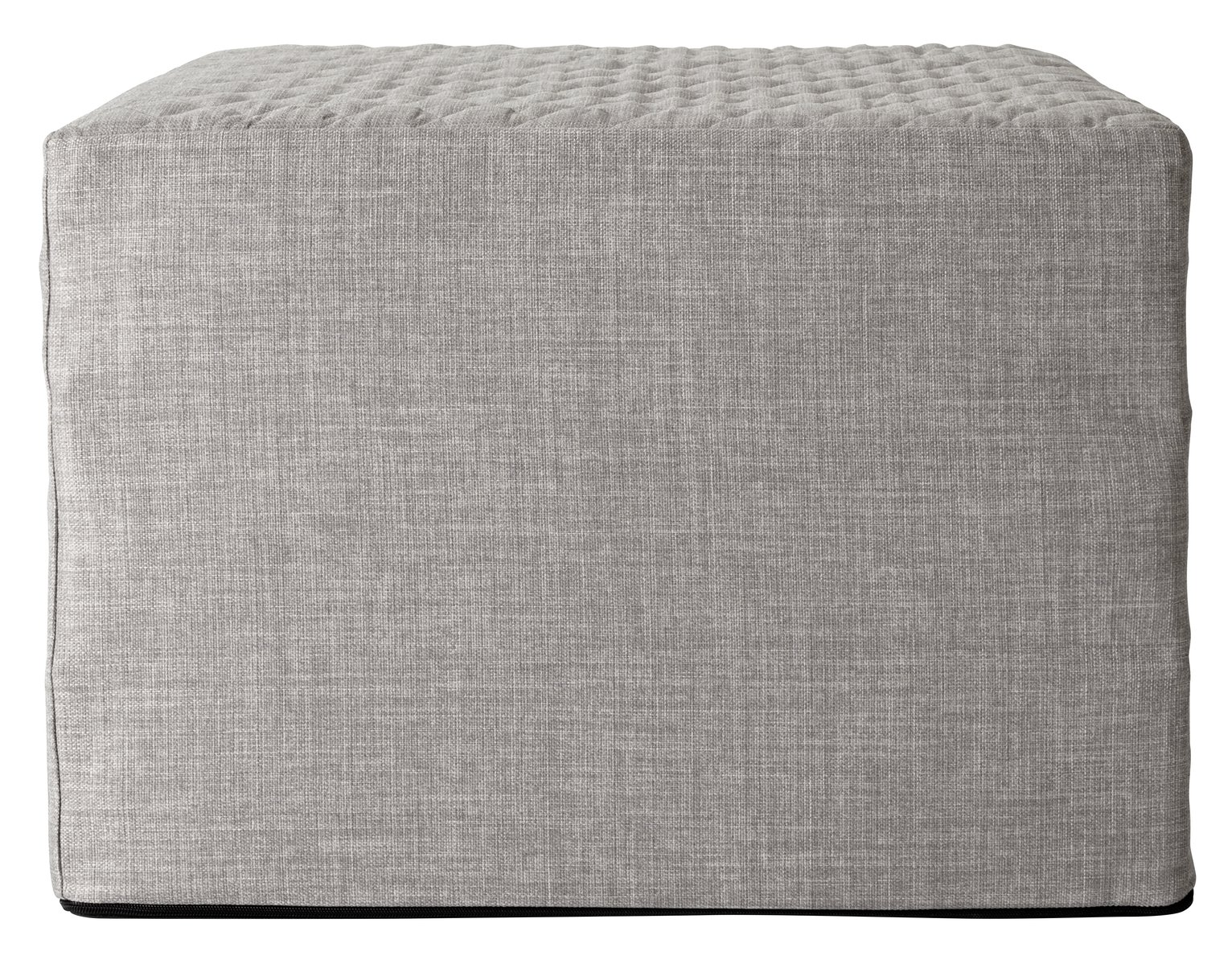 Argos Home Prim Fabric Single Ottoman Bed - Light Grey