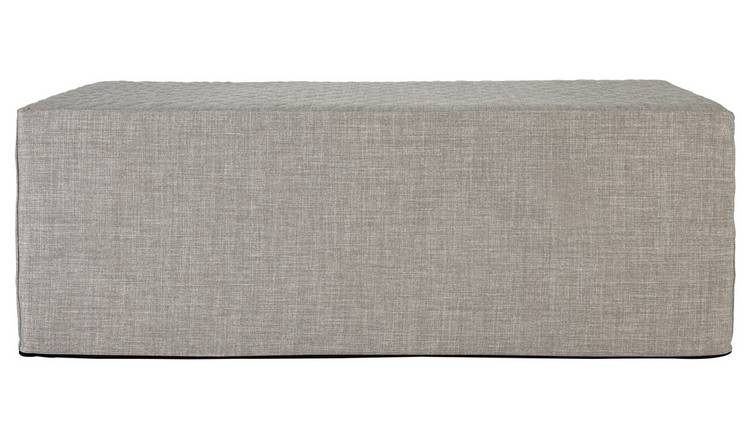 Buy Argos Home Prim Fabric Double Ottoman Bed Light Grey Sofa