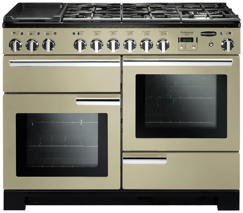 Image of Rangemaster Professional Deluxe 110cm Dual Fuel Cooker-Cream