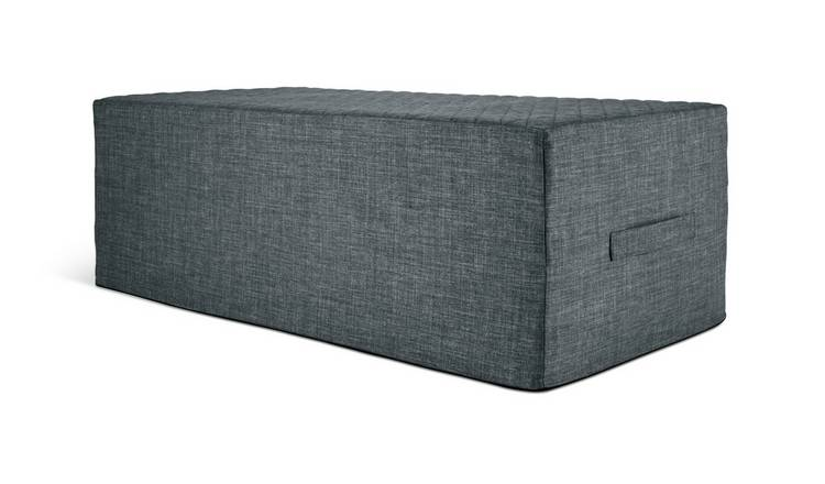 Buy Argos Home Prim Fabric Double Ottoman Bed Charcoal Sofa