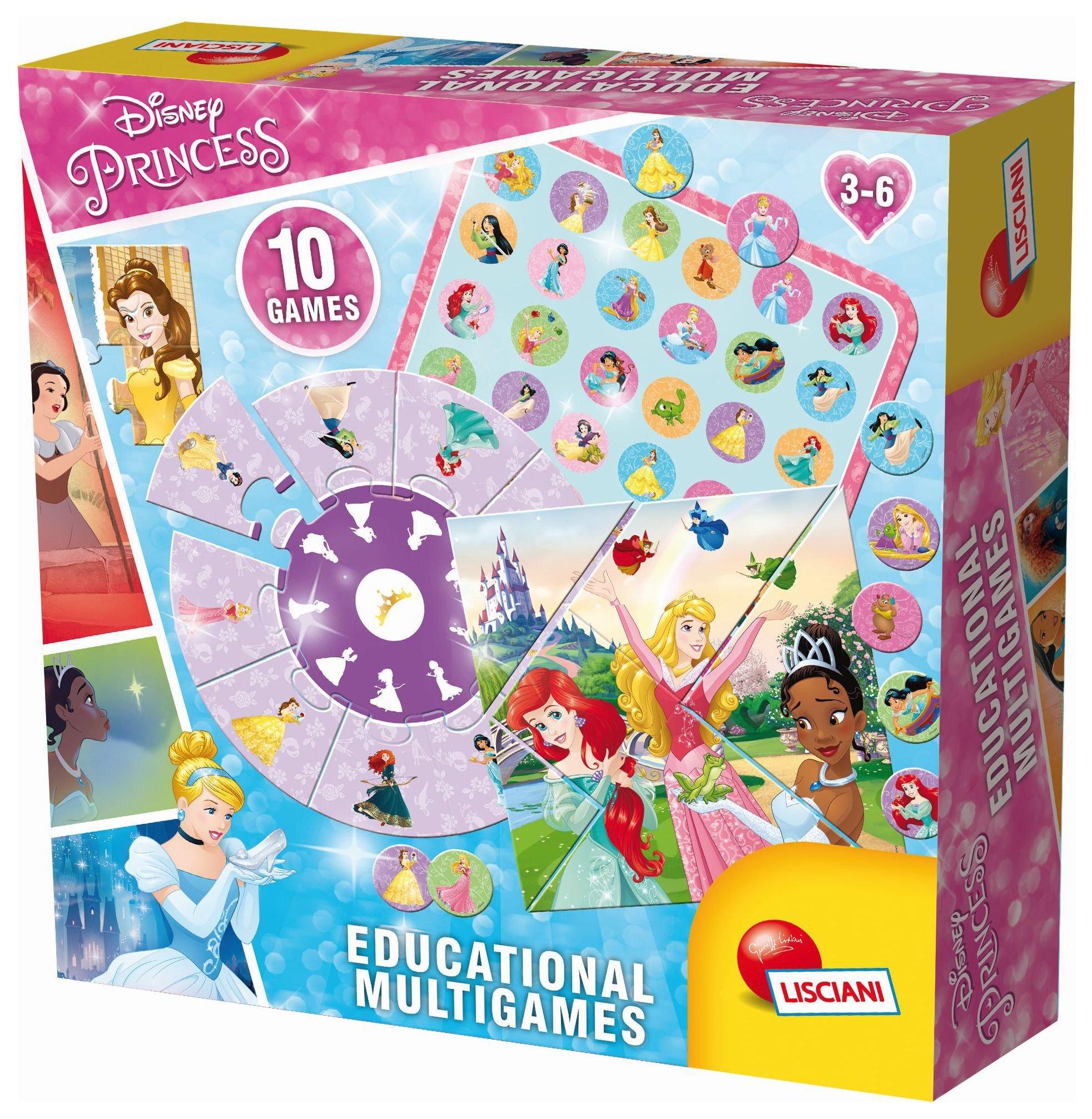 Lisciani Disney Princess Educational Multi Games.
