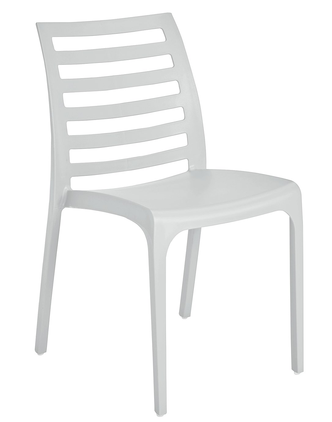 Hygena Stakk Plastic Chair - White