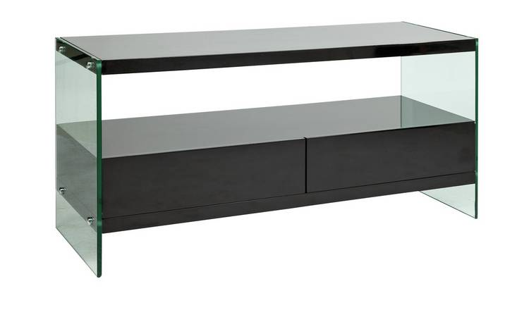 finest selection 07149 8af9f Argos Black Glass Tv Cabinet - Glass Decorating Ideas