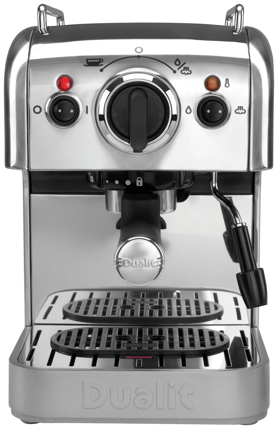 Image of Dualit 3 in 1 Coffee Machine - Stainless Steel.