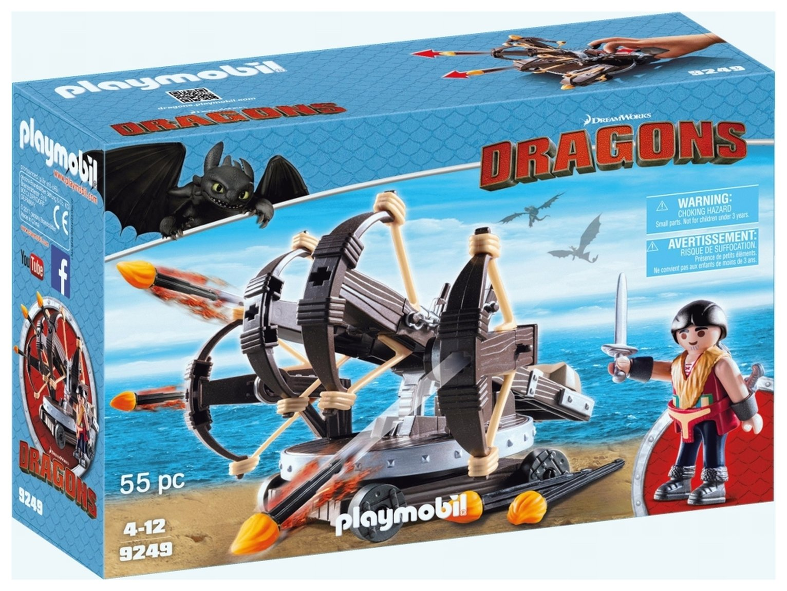 DreamWorks Dragons 9429 Eret & 4 Shot Ballista By Playmobil