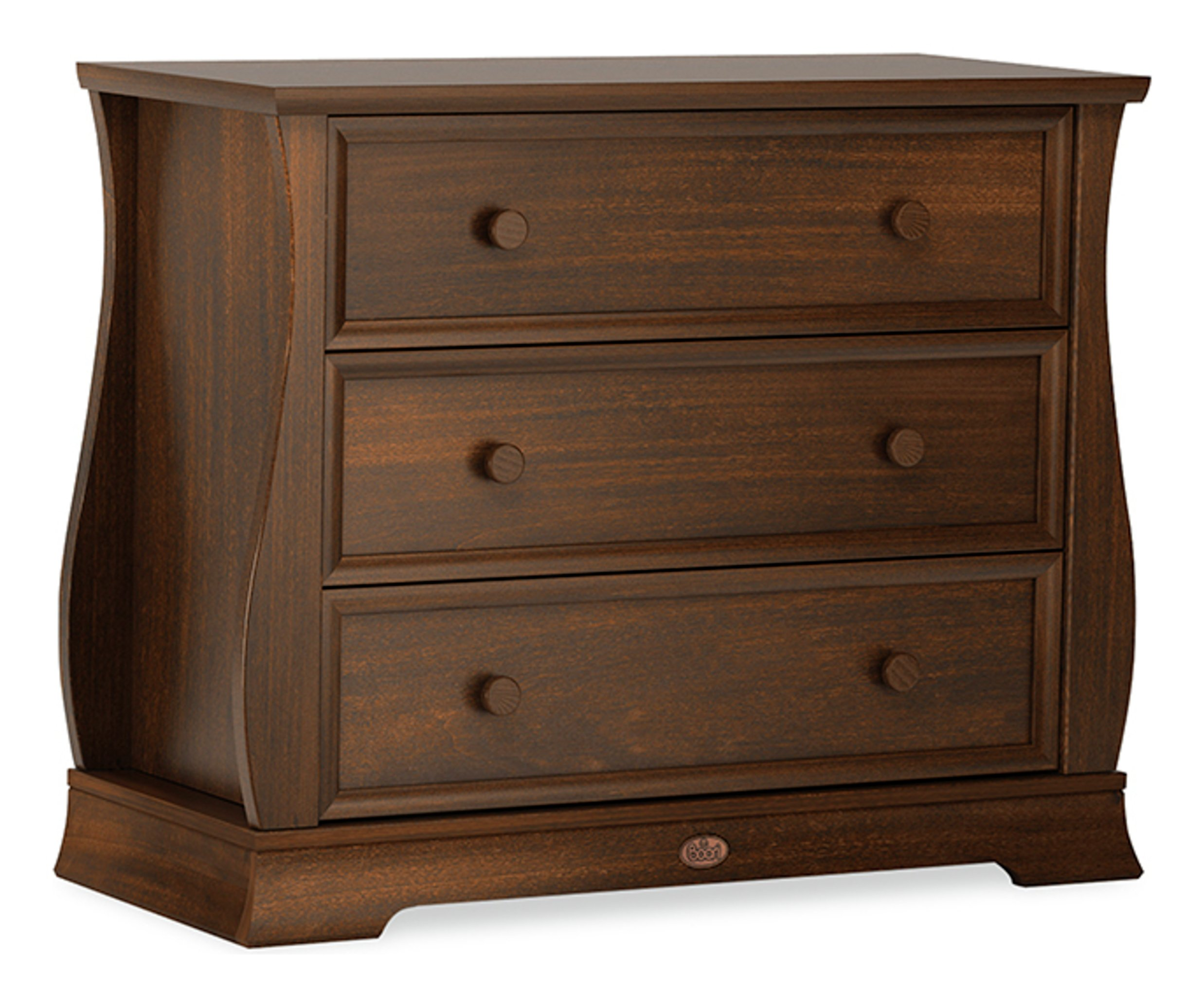 Image of Sleigh 3 Drawer Dresser - English Oak