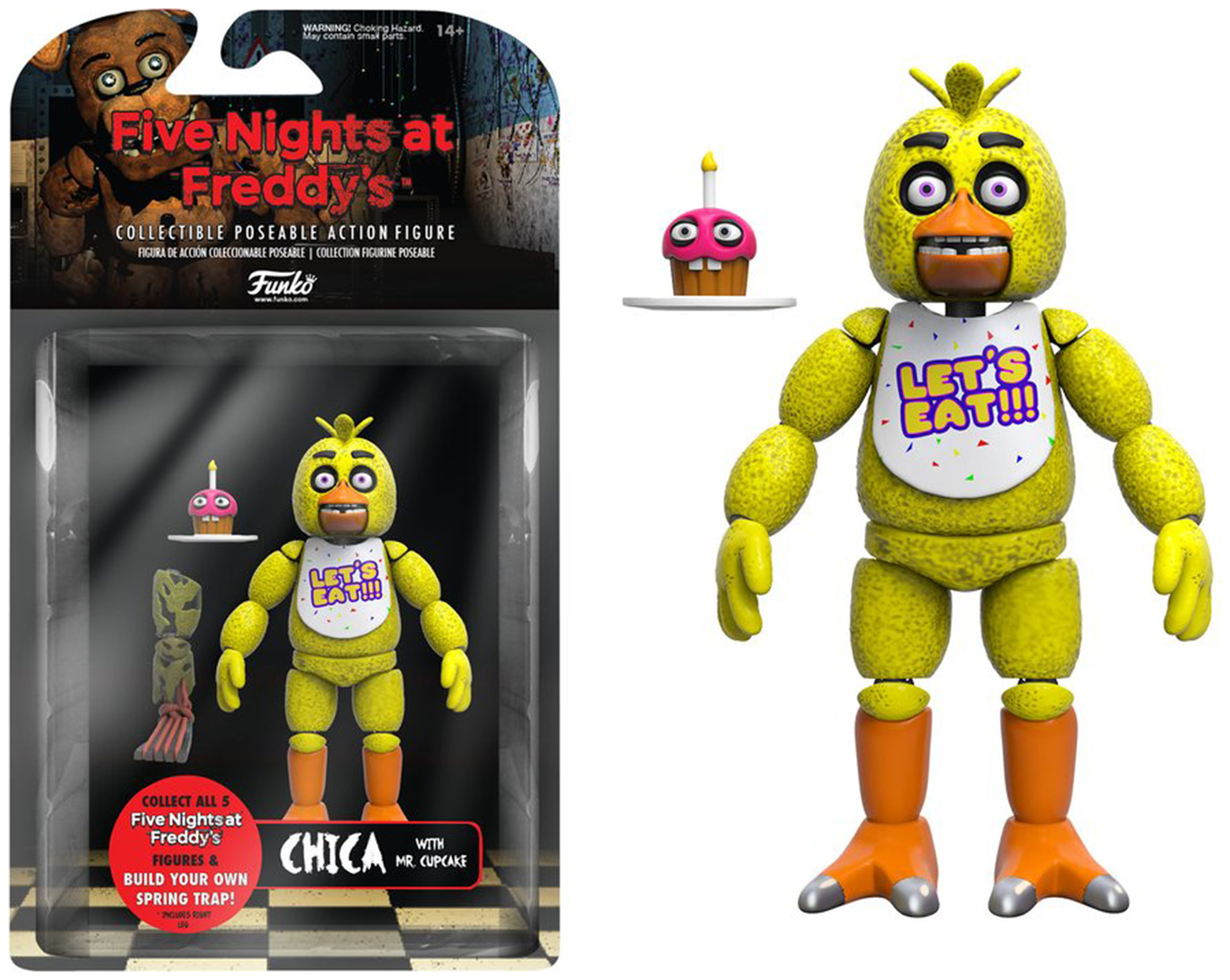 Image of Five Nights at Freddy's Chica Action Figure - 5 Inch.